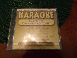 KARAOKE CD G LYRICS ON SCREEN BLAKE SHELTON JOHN MICHAEL MONTGOMERY