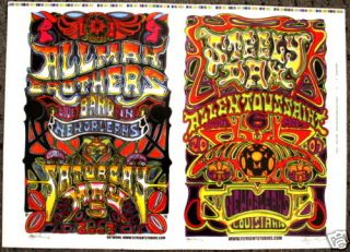 Allman Brothers Steely Dan Concert Poster Jay Michael
