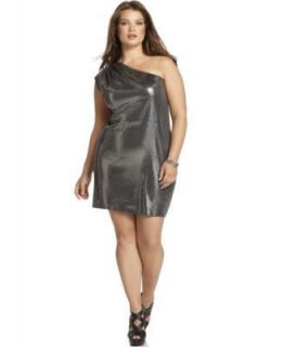160 Michael Michael Kors Sequin One Shoulder Dress Plus 3X