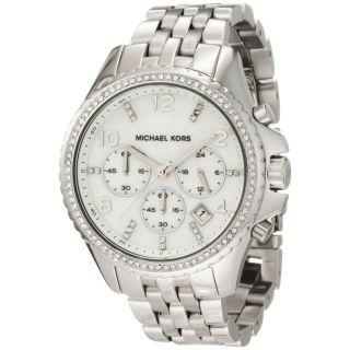 Michael Kors Oversized Silver tone Glitz Chronograph Ladies Watch