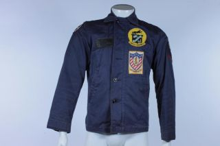 Vietnam War Era Military US Navy Utility Uniform Patches Jacket