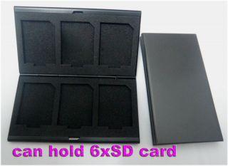 Aluminum Memory Card Holder Case SD Micro T Flash Black
