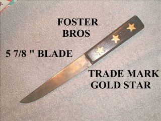 Antique Foster Bros Gold Star Boning Knife