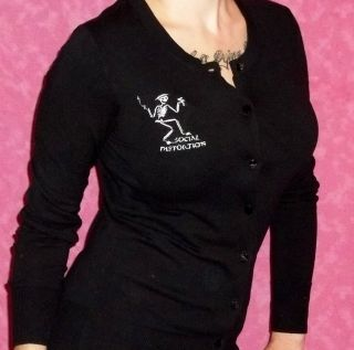 Distortion Skelly Rockabilly Cardigan Pinup Mike Ness Top S 4XL Punk