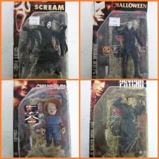 of 4 Classichorror Figures Michael Chucky Scream Holiday Sale