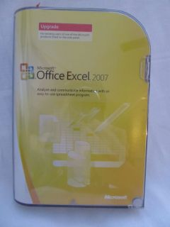 in Retail Box Microsoft MS Office Excel 2007 Software Upgrade Version