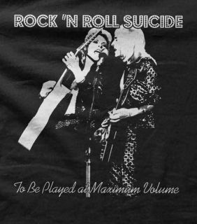 David Bowie Mick Ronson Rock N Roll Suicide Mens T Shirt All Sizes