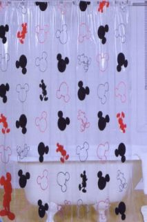 Disney Mickey Mouse Vinyl Shower Curtain Kids Shower Curtains