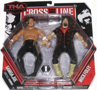 Samoa Joe Mick Foley Brand New TNA Jakks Series 1 2 Pack Action Figure