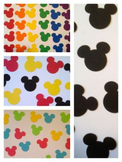 Mickey Mouse Disney Paper Punchies Cut Outs Die Cut Confetti Art Card