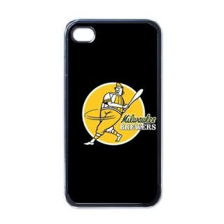Milwaukee Brewers iPhone 4 4G Hard Case Back Cover