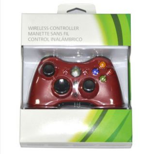 Wireless Controller Glossy Red for Microsoft Xbox 360 with Package