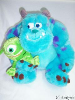 SULLY & MIKE Monsters Inc Disney Store Pixar Plush Toy James Sullivan