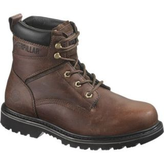 Mens Caterpillar Rangler Mike Rowe Steel Toe Work Boots Dark Brown