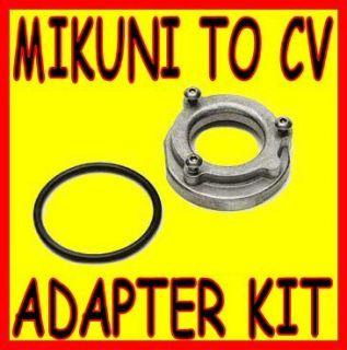 MIKUNI TO CV CARBURETOR AIR CLEANER BOX ADAPTER COMPLETE KIT HS42 001