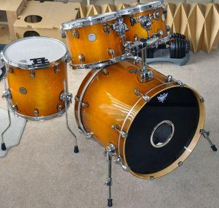 Mapex Meridian Maple Drum Set Burnt Orange Burst New Kit