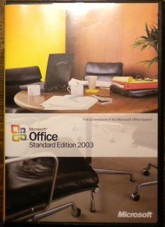 Microsoft OFFICE 2003 Standard WORD excel POWERPOINT outlook FULL