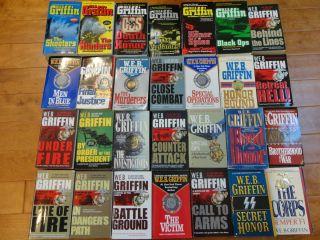 Lot 28 w E B Griffin Action Military Suspense Books