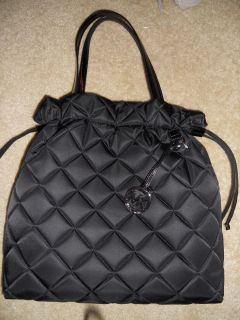 Michael Kors Black Items Quilt XL Drawstring Tote