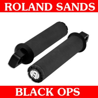 Roland Sands Design Black Ops Chrono Foot Pegs Male Mount for Harley