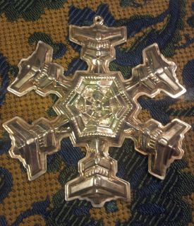 Gorham Sterling Ornament Snow Flake Christmas Ornament 1977