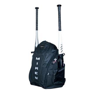 Miken Rookie Baseball Softball Backpack Bat Bag Black