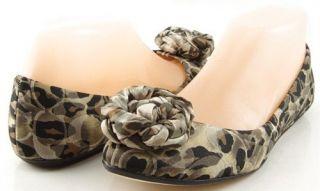Coach Mimsy Natural Multi Ocelot Printed Satin Womens Designer Ballet