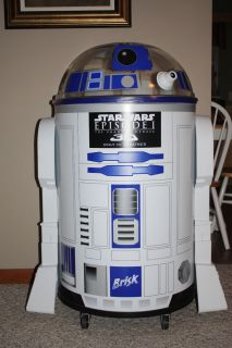 Star Wars Phantom Menace R2D2 Pepsi Brisk Life Size Cooler
