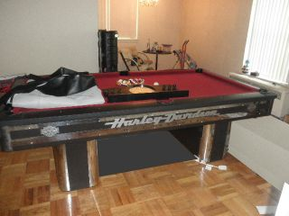Harley Davidson Midnight Chrome Pool Table Excellent Condition