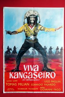Viva Cangaceiro Tomas Milian 1971 RARE EXYU Movie Poster
