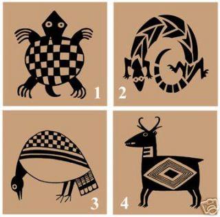 Mimbres Indian Designs Animal 6x6 Ceramic Tile Art