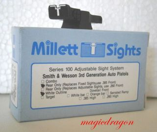 Millett Smith Wesson 3rd Generation Auto Adjustable Rear Sight