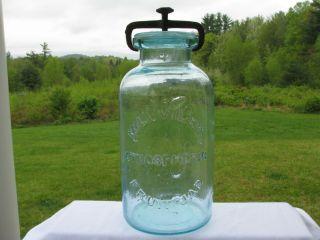 Millville Atmospheric Fruit Jar 1861 Half Gallon