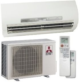 23 SEER Mitsubishi Single Zone Mini Split Heat Pump AC System