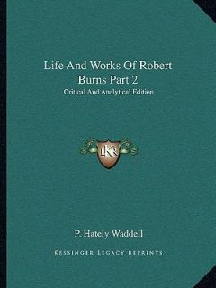 critical essays robert burns