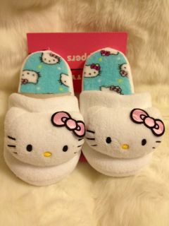 Sanrio Hello Kitty Plush Animal Home Slippers Sz 9 Purple Pink
