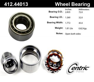 Centric Parts 412.44013E Axle Shaft Bearing