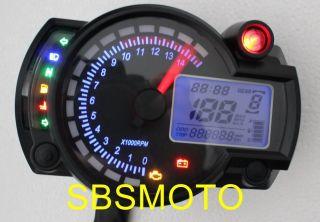 Mini Motorcycle Motor Bike LCD Digital Speedometer Odometer