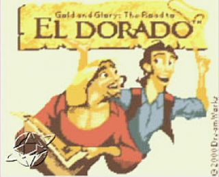 Gold and Glory The Road to El Dorado Nintendo Game Boy Color, 2000