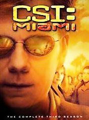 CSI Miami   The Complete Third Season DVD, 2005, 7 Disc Set
