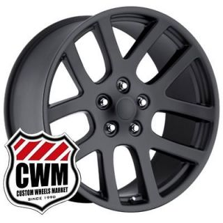 20 20x9 SRT 10 Dodge Ram SRT10 Matte Black Style Wheels Rims fit Ram