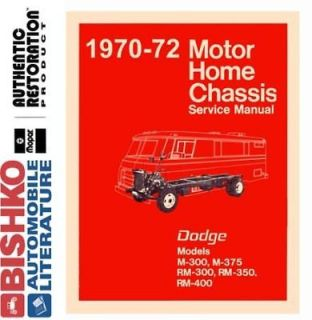 1970 1971 1972 Dodge Class A Motorhome Chassis Shop Service Repair
