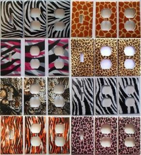 Zebra Animal Print Tiger Leopard Cheeta Lion Light Switch Plate