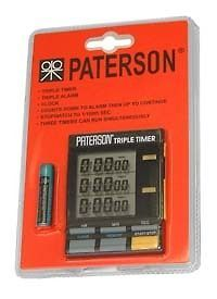 New Paterson 3 Channel LCD Triple Timer
