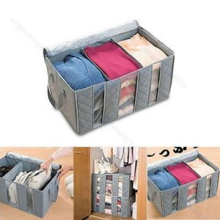 65L Bamboo Charcoal Clothes Sweater Blanket Closet Organizer Storage