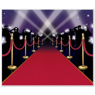 6ft Hollywood VIP Awards Night Red Carpet Party Wall Mural Poster