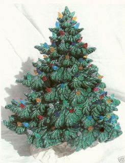 16 1/2 FRAZIER GREEN CHRISTMAS TREE W/BASE CERAMIC