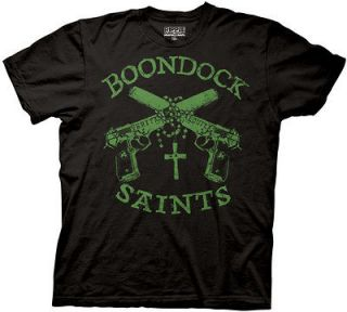 ALL SIZES Boondock Saints Movie Title Cross Guns Logo t shirt tee
