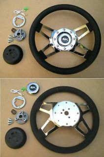 Newly listed APC 4 spoke chrome steering wheel & adapter 4 Chevy GM 69
