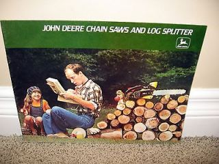 1978 John Deere Chain Saws & Log Splitters Brochure A25 77 12